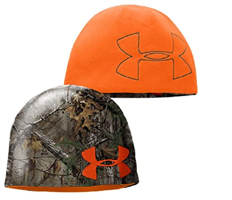 3ec7c19d8c577 Image Unavailable. Image not available for. Color  Under Armour Youth Reversible  Hunting Beanie ...