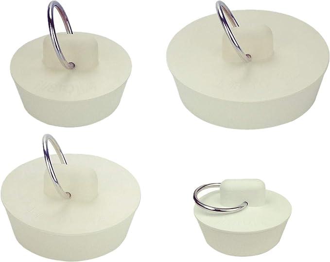 4x Drain Plug Kitchen Rubber Bathroom Tub Sink Floor Laundry Water Stopper L8Y