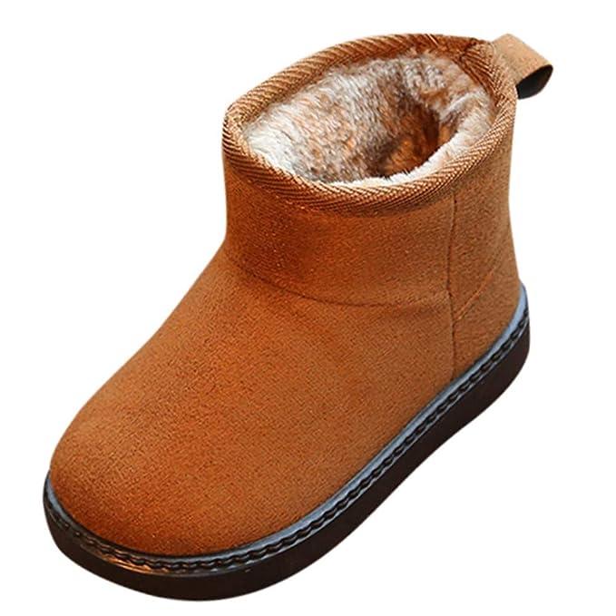 Botas de Bebe, ❤ Amlaiworld Botas de nieve para niños niñas Bebés Calientes Zapatos antideslizantes de bandada sólida patucos Zapatillas Calzado: ...