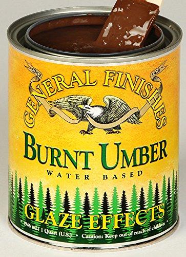 General Finishes Water Based Glaze Effects Burnt Umber (Burnt Umber Glaze)
