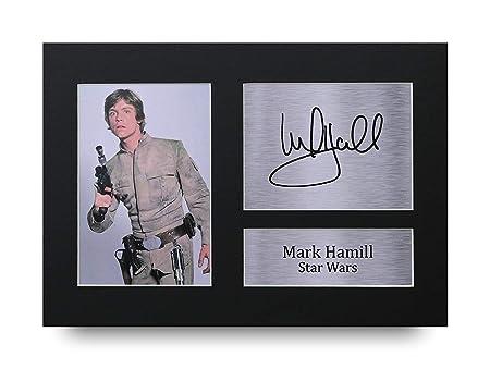Mark Hamill Los Regalos Firmaron A4 la Dedicatoria Impresa Star Wars Luke Skywalker La Foto de Impresión Imagina la Demostración