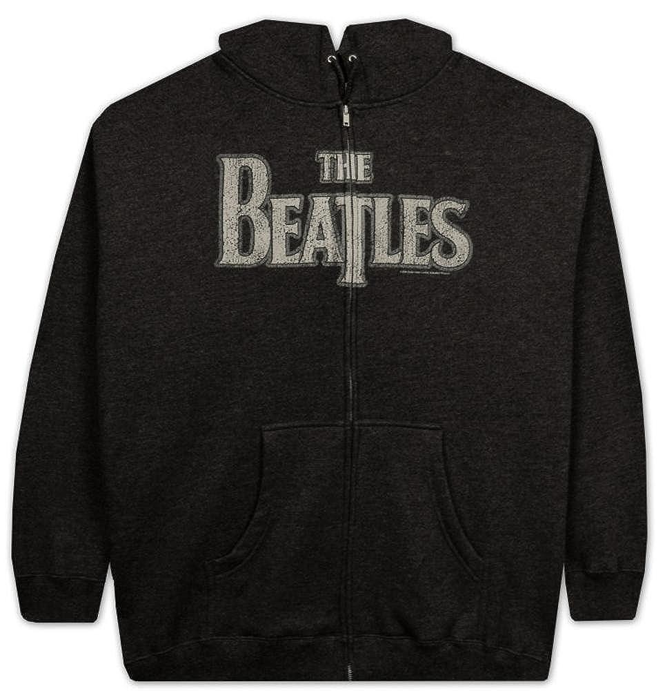 The Beatles Vintage Logo Zip Hoodie Sweatshirt