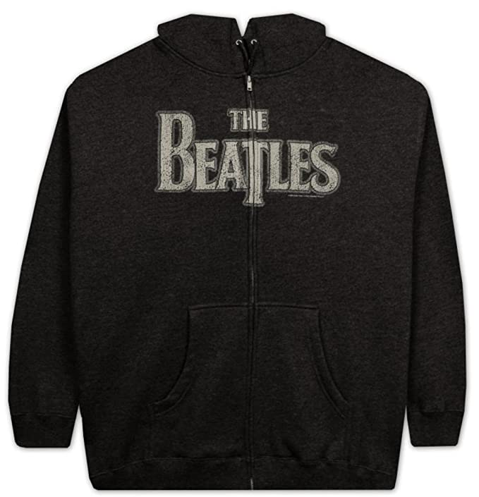 The Beatles Vintage Logo Zip Capucha Sudaderas: Amazon.es: Ropa y accesorios