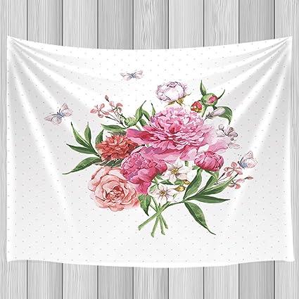 Amazon Com Kotom Watercolor Wildflowers Tapestry Blooming
