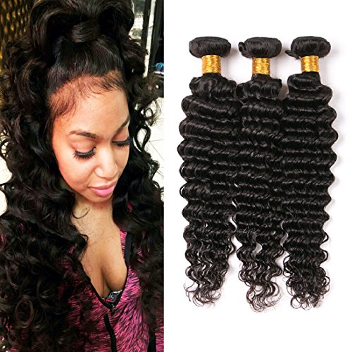 Human Hair Deep Wave 3 Bundles Mink Virgin Brazilian Hair Extensions Natural 1b Color Long Hair Pieces 24 26 28 Inches Wholesale For Women …