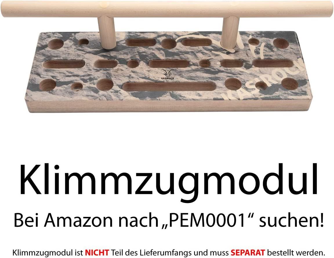 KASIROCK Comboboard Pegboard Fingerboard 9 Slots for Rods and 10 Finger Holes for Various Handles 60 x 21 x 4 cm Standard Set Includes 2 Wooden Rods Wall Protectors and Mounting Materials