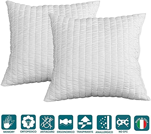 Cuscini In Memory.Evergreenweb Occasion Pair Of Memory Foam Cushions Great For