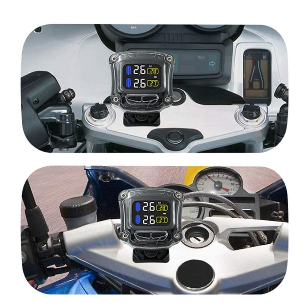 2 Sensores Shiwaki TPMS Moto Sistemas de Control de Presi/ón de Neum/áticos Controlar
