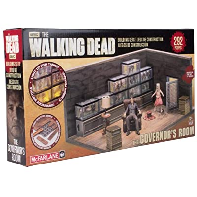 McFarlane Toys The Walking Dead Governor's Room Mini-Figure Building Set: Toys & Games