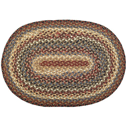 Homespice Oval Cotton Braided Rugs, 2-Feet 6-Inch by 9-Feet, Biscotti