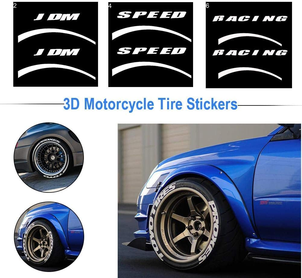 Speed//JDM//Racing//Toyo Tires PROXES Mit Logo Wei/ß Reifenschrift Farbe LUCYPAPASHOW 1 X Reifenaufkleber