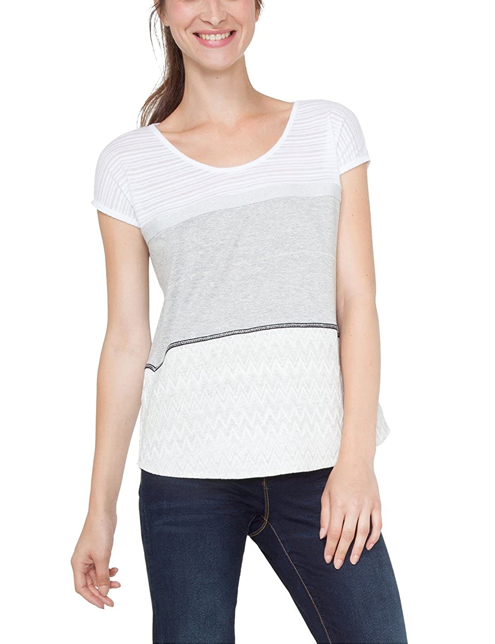 Para Accesorios mire Mujer Ts Desigual Ropa Y Camiseta es Amazon OfF1wqz