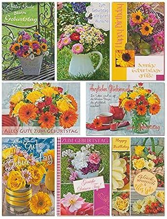 50 Geburtstagskarten Mit Blumen Grusskarten Zum Geburtstag