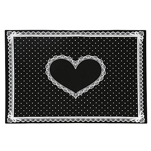 Nail Art Tool,Putars Sexy Silicon Lace Polka Dot Heart Pattern Nail Art Table Mat Pad Manicure Clean -