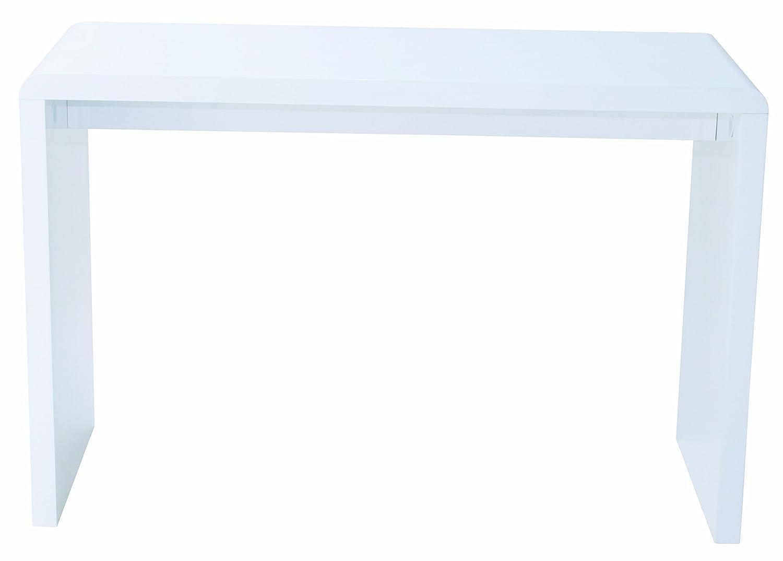 Schreibtisch weiß hochglanz 140  Schreibtisch Computertisch Arbeitstisch SERVO | Weiß Hochglanz ...