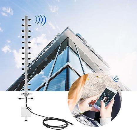 Antena Wifi para exteriores, conector RP-SMA 2.4Ghz 25dBi Direccional 2M Cable Antena inalámbrica Router Wifi para exteriores, Versátil Antena ...