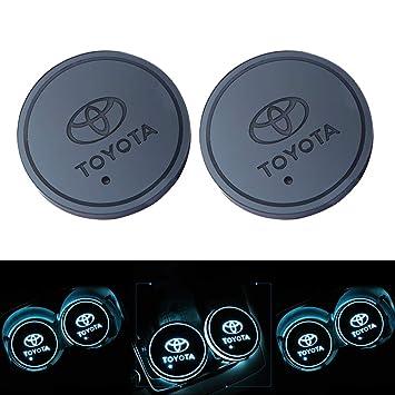 2pcs Led Auto Cup Halter Matte Pad Wasserdicht Flasche Getränke Untersetzer Für Universal Auto Zur Autodekoration Stimmungslicht Innenraumbeleuchtung Wasserdicht Toyota Baby