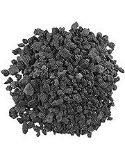 "American Fireglass Small Black Lava Rock (1/4"" - 1/2"") 10 lb Bag"