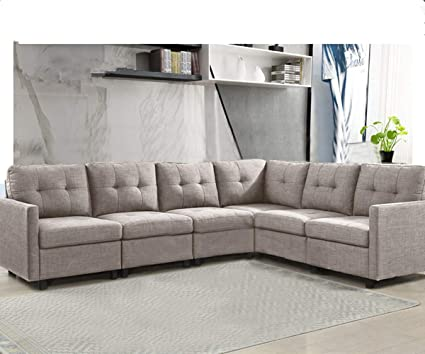 Amazon Com 6 Piece Modular Sectional Sofas L Shape Living Room