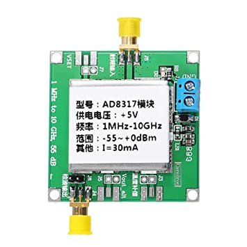 Yongse DC5V AD8317 Módulo RF Medidor de Potencia Detector Logarítmico Controlador de Potencia Amplificador de Señal FM HF VHF: Amazon.es: Electrónica