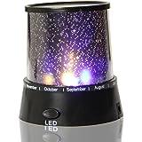 Noche LED luz de la estrella del proyector de la lámpara, lámpara lateral de la cama, de colores Noche estrellada