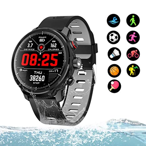 KXHWSH Smartwatch Pantalla Circular Toque Monitores de Actividad ...