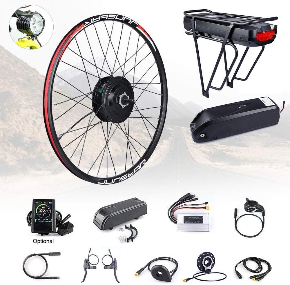 Bafang 8fun - Kit de conversión de Rueda Delantera de 48 V 500 W con batería eléctrica para Bicicleta de 20 26 27,5 700 C con Pantalla LCD