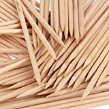 Orange Wood Sticks, Nail Art, Cuticle Pusher Remover, Manicure Pedicure Tool (50 Pieces)