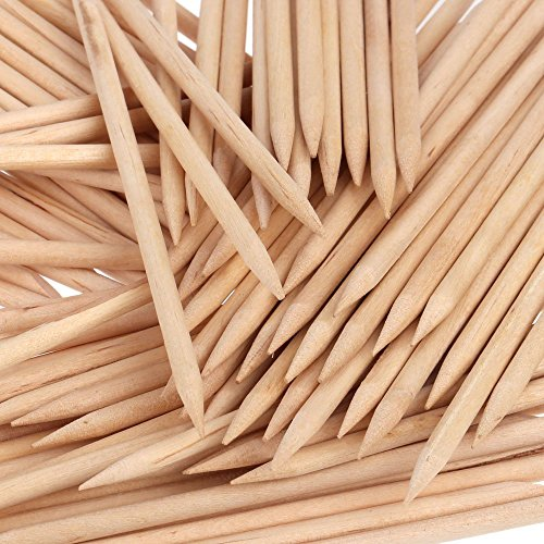 Orange Wood Sticks, Nail Art, Cuticle Pusher Remover, Manicure Pedicure Tool (50 Pieces) ()