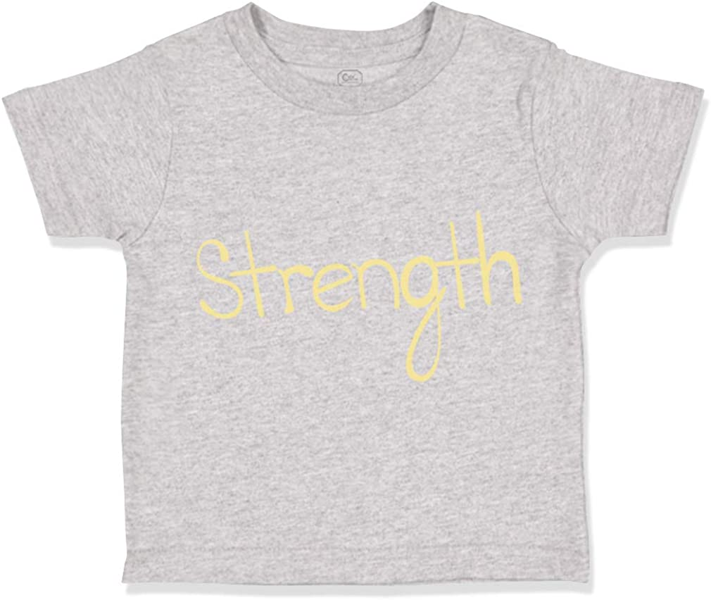 Custom Toddler T-Shirt Strength Yellow Cancer Support Cause Boy /& Girl Clothes
