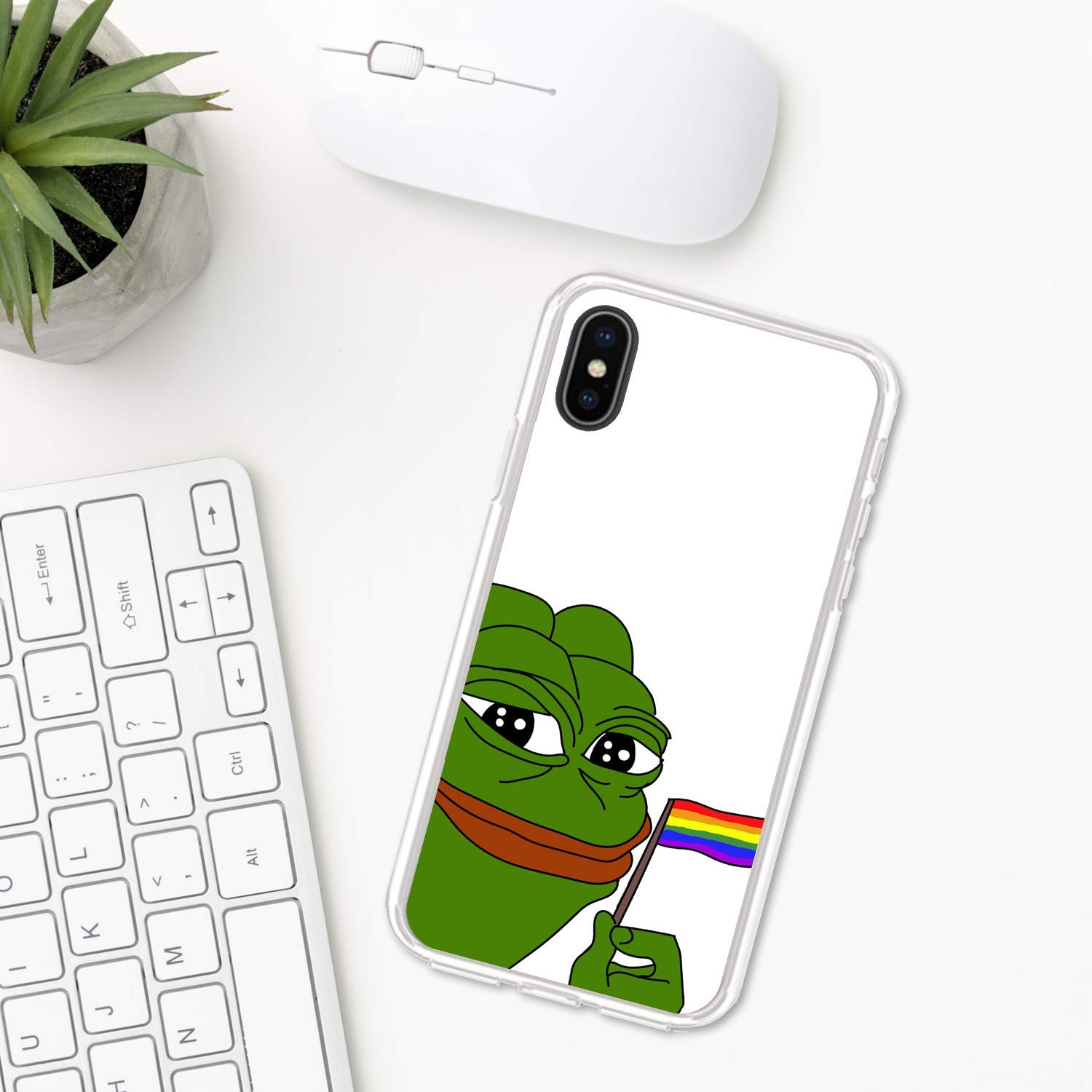 Pepe the Frog iPhone case XR 11 X XS MAX Pro 8 7 Plus 6 6s 5 5s se ten 10 Apple iPhone phone case gift angry meme sad face smile animals