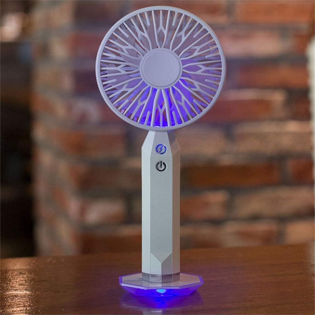 Handheld Ventilatori, Ultraviolet Magia Diamante Ventilatori, palmare Desktop ventilatori Portatili Adatti for Interni ed Esterni semplicità (Color : White) White