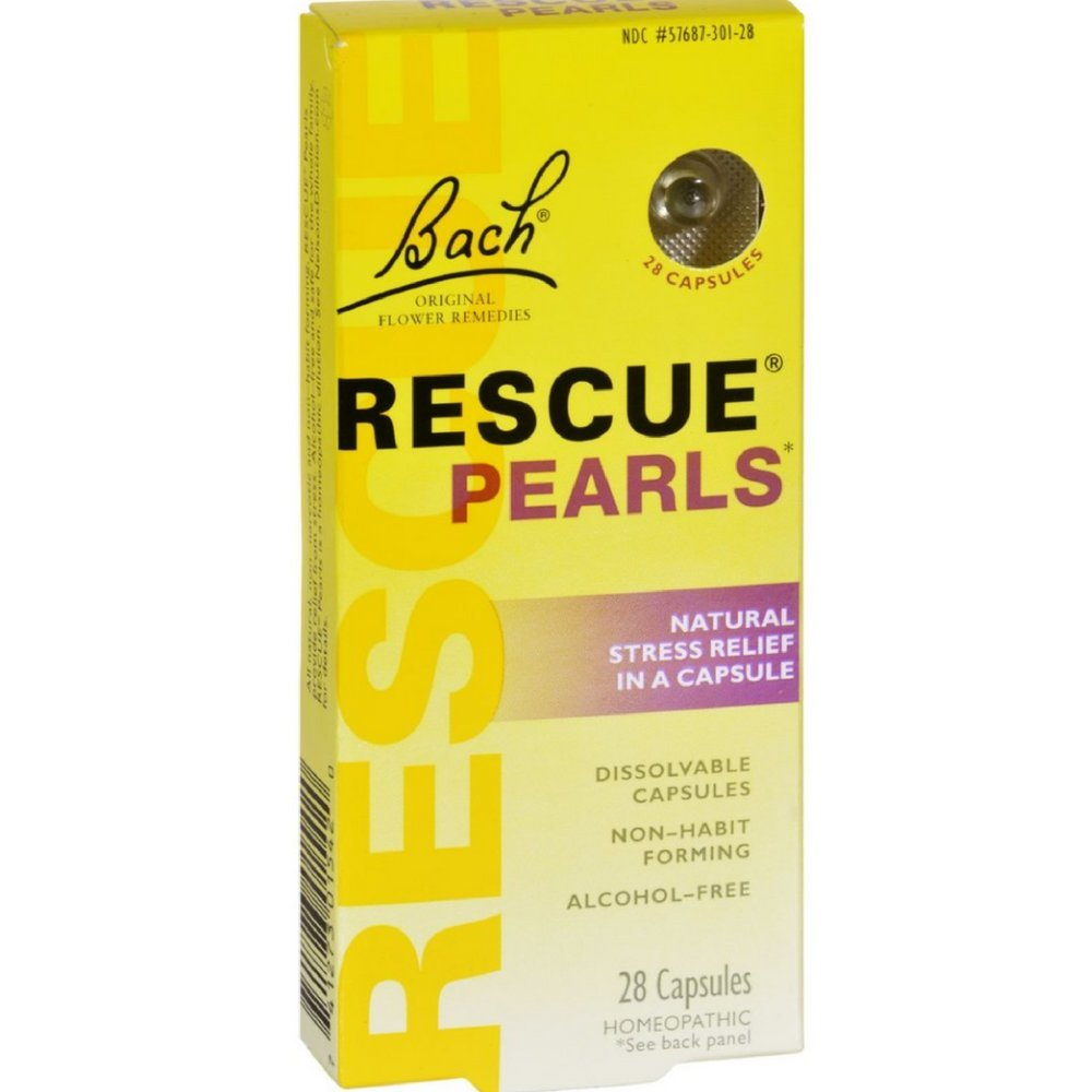 Bach Rescue Pearls Natural Stress Relief ,28 Capsules (Pack of 12)