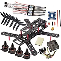 powerday QAV280 Quadcopter kit QAV280 Carbon Frame Kit &Sunnysky X1806S 2300KV Brushless motor&CC3D 32bits Flight Control &HP 12A OPTO Speed Controller& 5030(CW+CCW) 3-blade Propeller