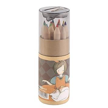 Lápices de colores - 12 pcs Premium pre-sharpened color - Juego de ...