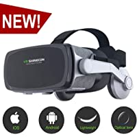 [New Version ]VR Headset,Virtual Reality Headset,VR SHINECON VR Goggles for TV, Movies & Video Games - 3D VR Glasses for Iphone, Android and Other Phones Within 4.7-6.0 inch