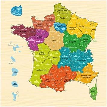 puzzle carte de france IMAGIN   Puzzle carte de France régions et départements 30x30x0