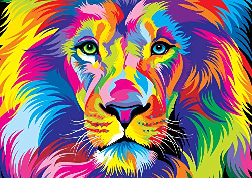 Vivid The King Wooden Jigsaw Puzzles 1000 Pieces for Adults Colorful Games Large Format
