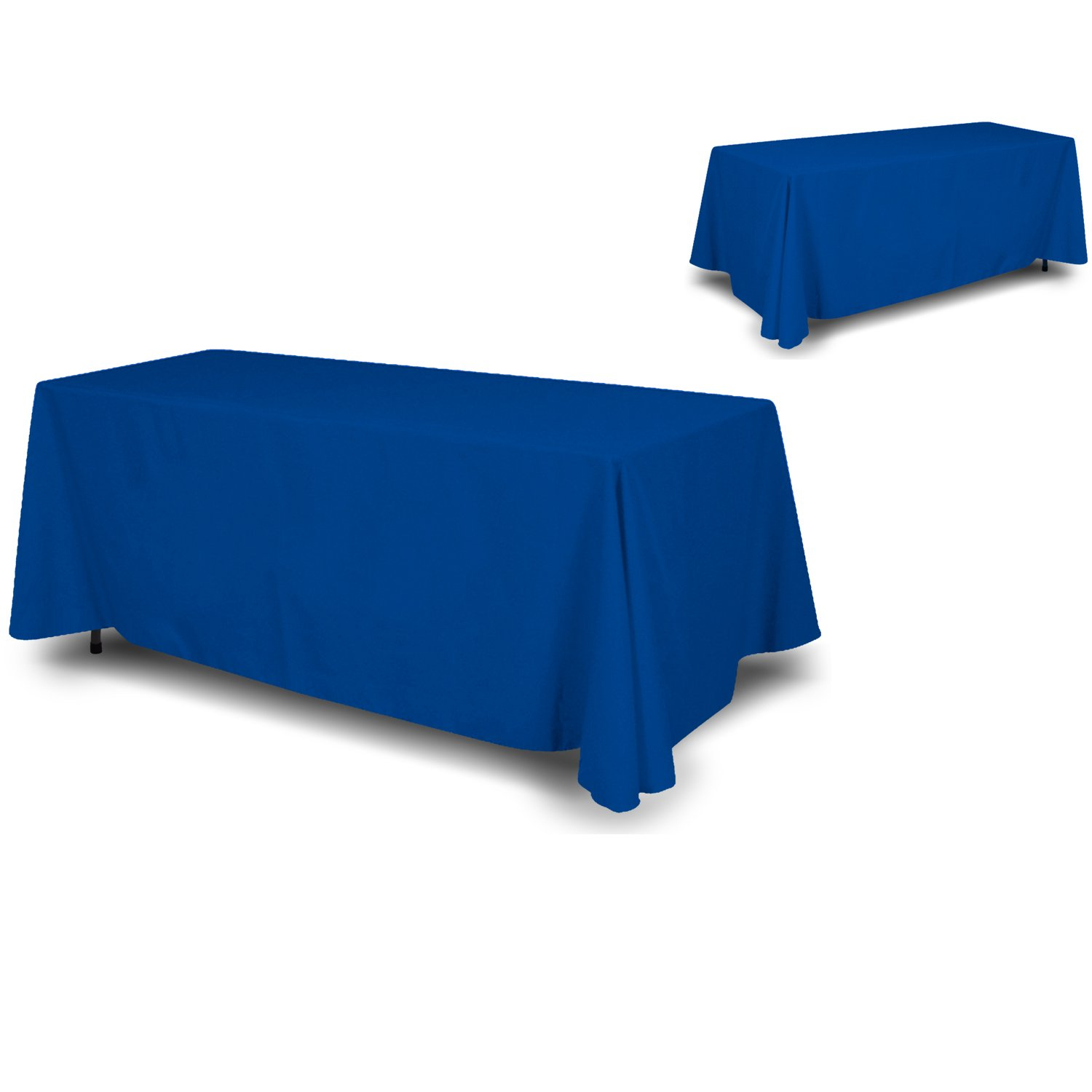 wall26 - 4 Sided Full Back Blue Tablecloth / Table Cover / Throw | Cloth Size 90'' x 132'' suited for 6ft table