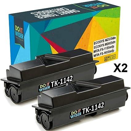 10 Pack TK-1142 TK1142 Black Laser Toner Cartridge for Kyocera Mita FS-1135 MFP