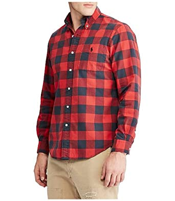 faf4c4a59 RALPH LAUREN Polo The Iconic Plaid Check Oxford Cotton Casual Button Down  Shirt