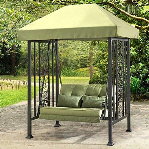 Sunjoy Vineyard Swing with Green Canopy & Cushions, 67