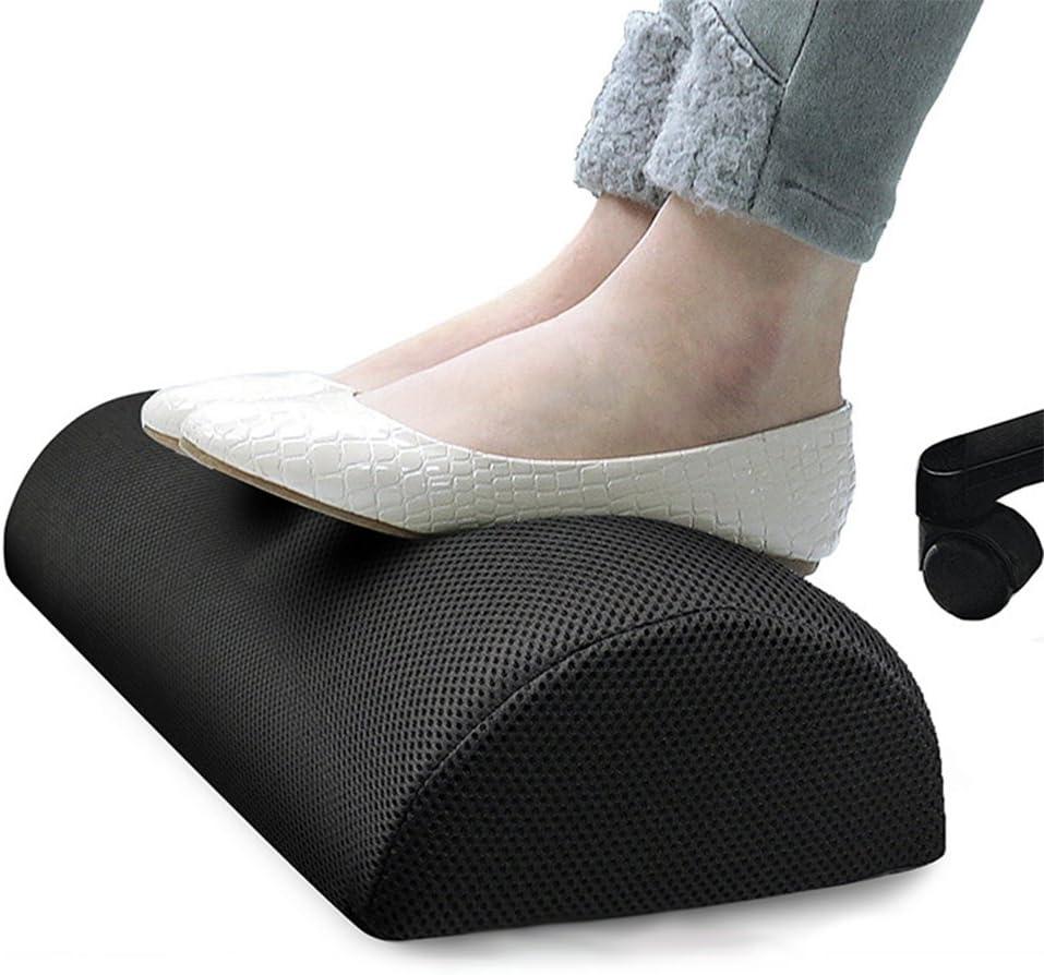 Reposapiés para debajo del escritorio, ergonómico perfectamente angulado, suave y elástico antideslizante, cojín de espuma de memoria, alivia la rodilla, piernas y pies, para oficina, hogar y viaje