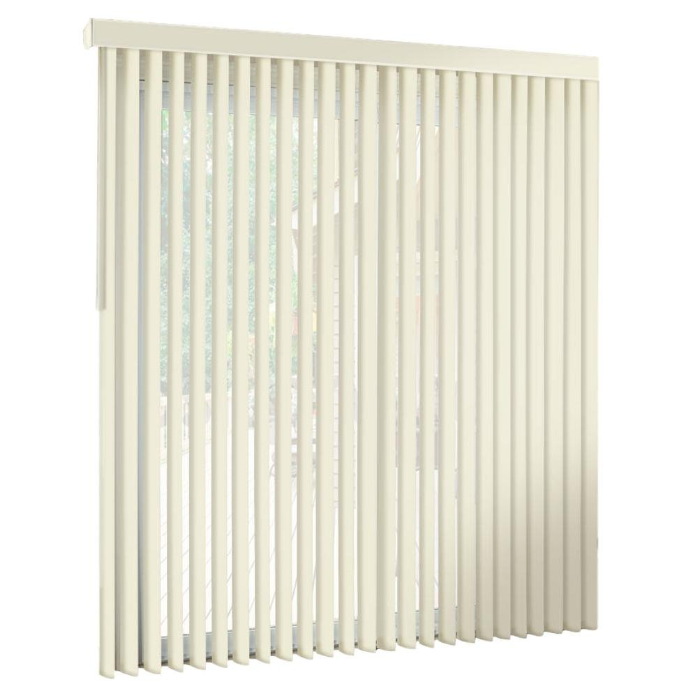 """Premium PVC Vertical Blinds-Blocks Sunlight-Assembled in the US-Exact Width /& Length from 67/"""" Wide to 55/"""" Long 67 W x 43 L vertical blind. spotblinds OFF WHITE-Cordless-Custom-Made Receive a"""