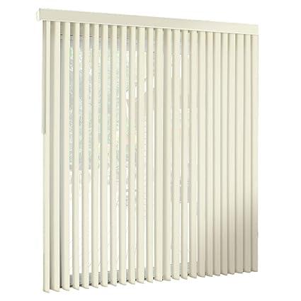 white vertical blinds large window spotblinds off whitecordlesscustommade premium pvc vertical blinds assembled amazoncom