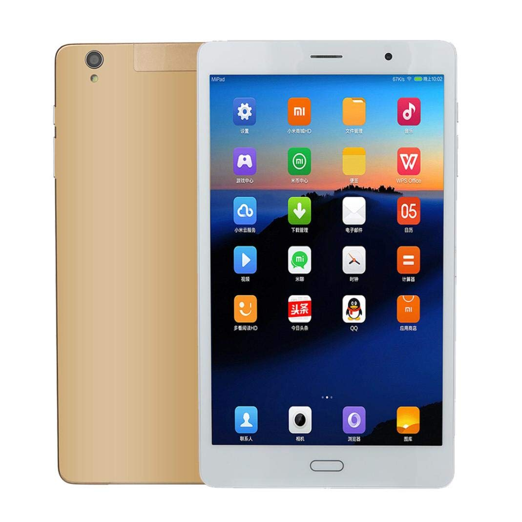 Amazon.com : 8 Inch Android 6.0 Phone Tablet PC 2GB+32GB Dual Camera WiFi  Bluetooth Type-C Dual SIM Tablet for Kids Adult Men Women (Gold) :  Computers & ...