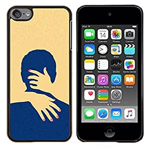 Planetar® ( Amarillo Amor minimalista Limpio ) Apple iPod Touch 6 6th Touch6 Fundas Cover Cubre Hard Case Cover