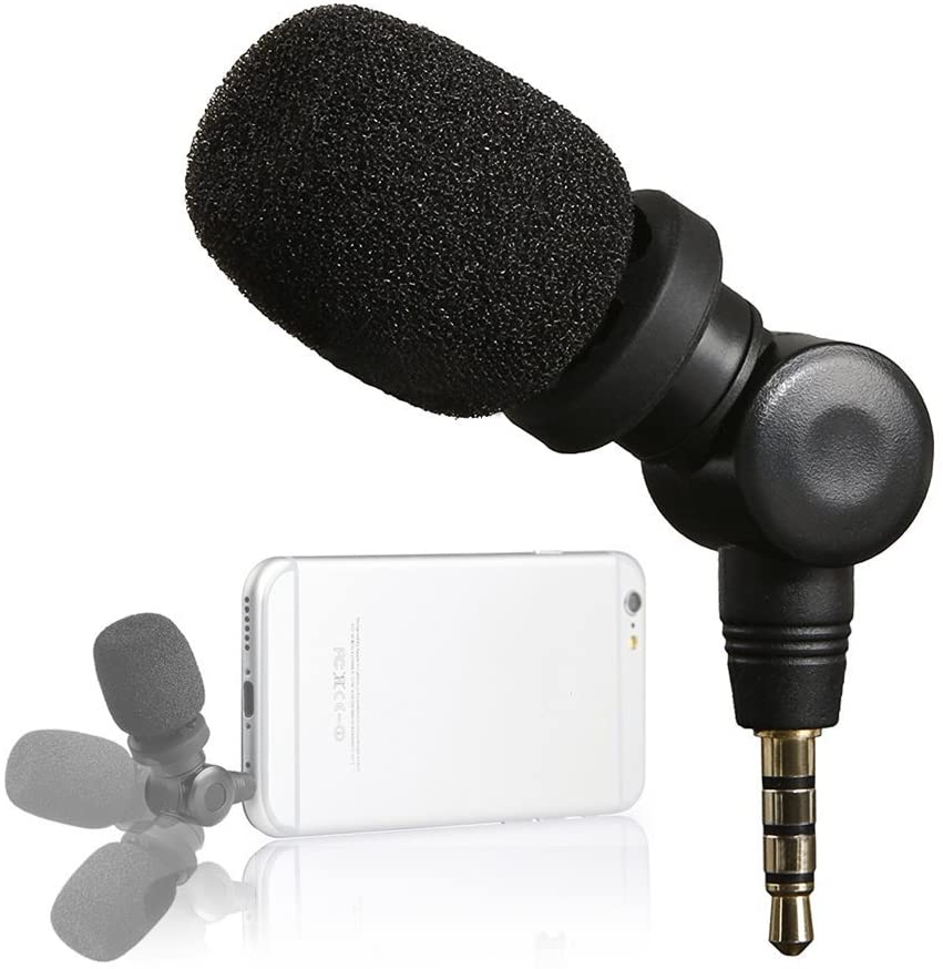 Saramonic SmartMic Mini Condenser Flexible Microphone for Smartphones,Vlogging Microphone for iPhone and YouTube Video, Mic for iOS Apple iPhone 7 7s 8 X 11 6 6s iPad and Android Phone