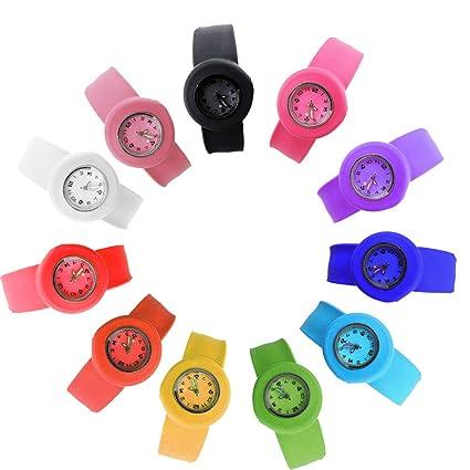 652588ff3d13 HSW Slap on Watch Silicone Quartz Number Fashion Watch Sport Wrist Band fot  Children Boy Girl