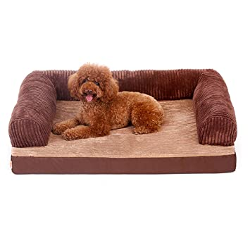 WANGXIAOLIN Cama para Mascotas, Nido Abierto, Cama para Perros Grande para Interiores, Cama